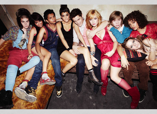 MTV Skins Wallpaper Possibly With Bare Legs And A Hip Boot Entitled Cast