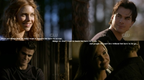 The Vampire Diaries wallpaper containing a portrait entitled Stefan and Lexi /  Damon and Rose