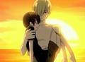Tamaki carrying Haruhi