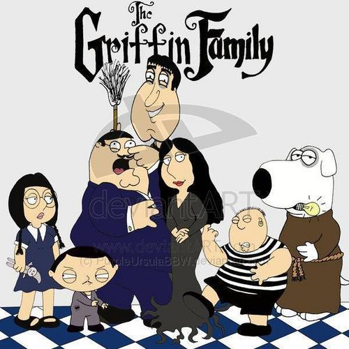 uma familia da pesada wallpaper containing animê titled The Griffin Family... Addams Family Style!!