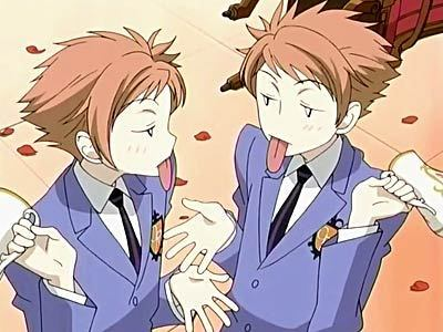 Ouran High School Host Club karatasi la kupamba ukuta with anime titled The Twins