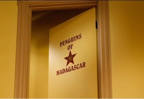 The penguins have their own Hollywood set dressing room!!!!!! XD