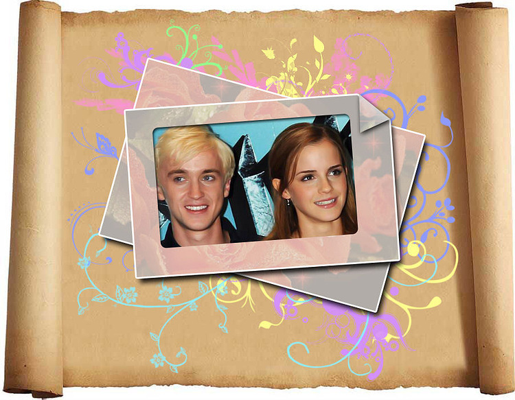 tom felton and emma watson kissing. makeup emma watson kissing.