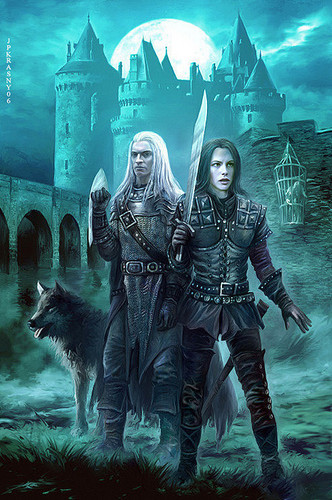 Traitor to th Blood Czech Cover picture Magiere, Leesil and Chap