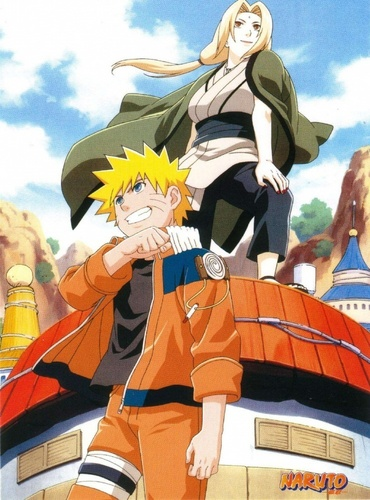Tsunade and Naruto