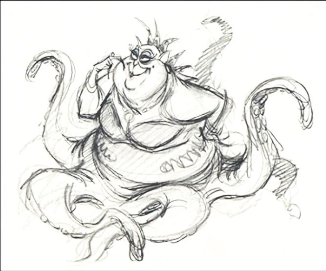 little mermaid ursula drawing