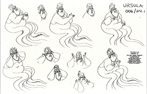 the little mermaid images ursula character design