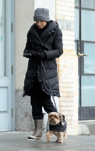 Walking with Ben and Whiz in New York City