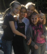 With Amy-Leigh, Saffron and Jessie