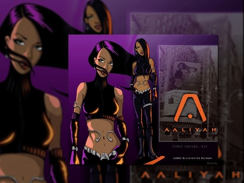 animated Aaliyah