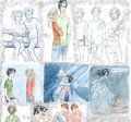 colage of fan pics - the-heroes-of-olympus fan art