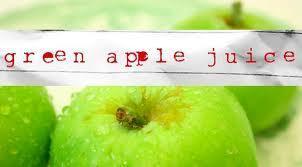 green manzana, apple jugo, jugo de