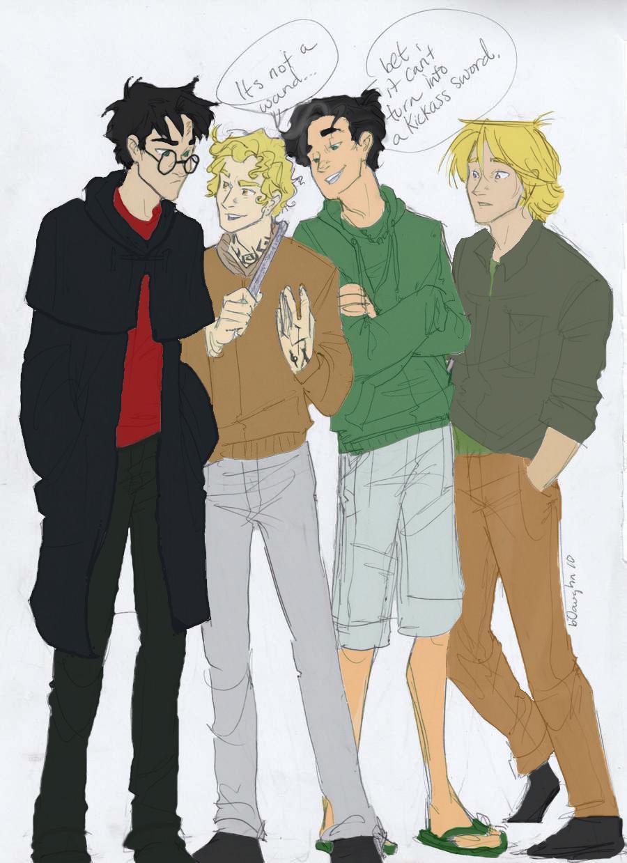 harry, jace (<3), Percy , Peeta