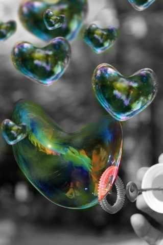 심장 bubbles