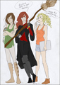 katniss, ginny, and annabeth