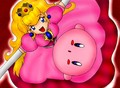kirby and peach, pichi