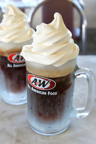 root birra float a&w