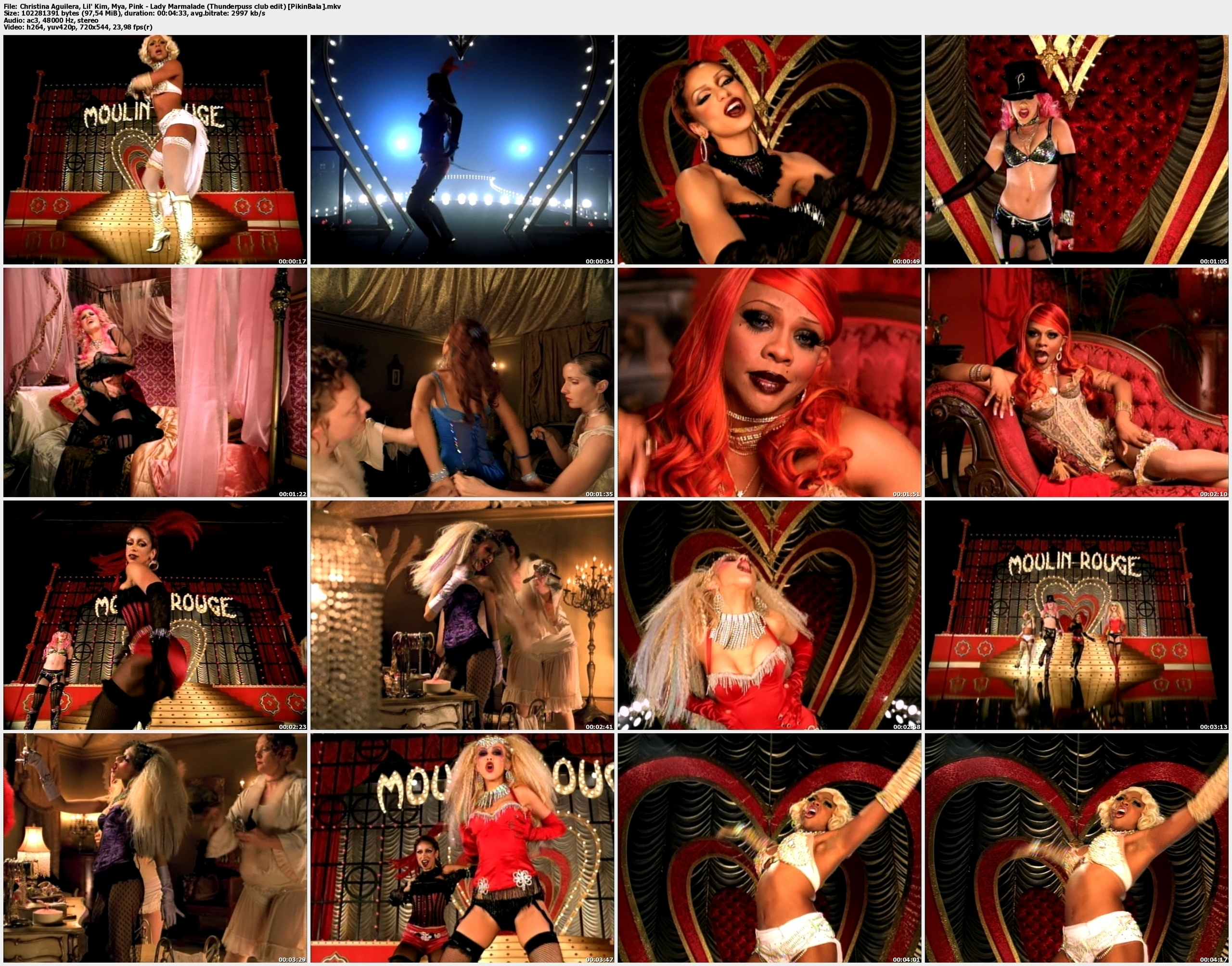 lady marmalade video clip:
