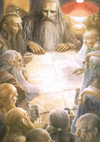 A meeting at Bag End with Gandalf.