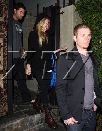Avril Lavigne and Brody Jenner At Koi Restaurant 2.2.2011