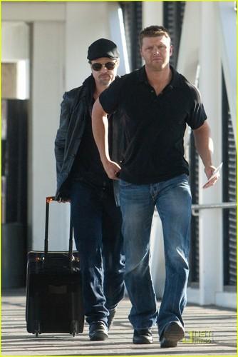 Brad Pitt At Lax 2011