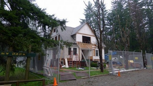 Breaking Dawn Filming News: giorno 5 Of The Construction Of Bella's House!