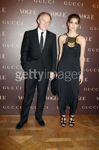 Prinzessin charlotte Casiraghi Hintergrund with a business suit and a suit entitled Gucci abendessen At Italian Embassy