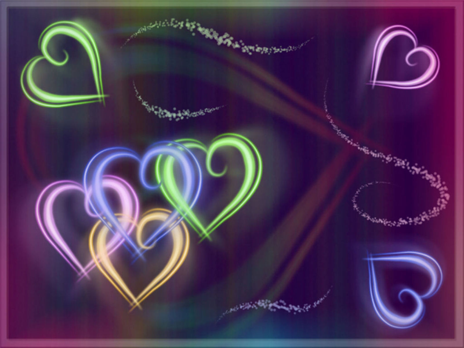 neon colors rock images hearts hd wallpaper and background