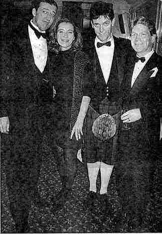 Hugh (Kilted) with Stephen, Emma & Kenneth
