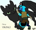 Ima VIKING! - how-to-train-your-dragon fan art
