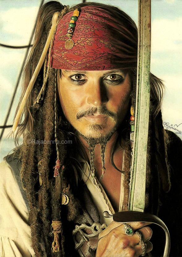 a drawing of jack sparrow johnny depp. Jack Sparrow drawing