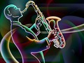 Jazz in Neon - jazz wallpaper