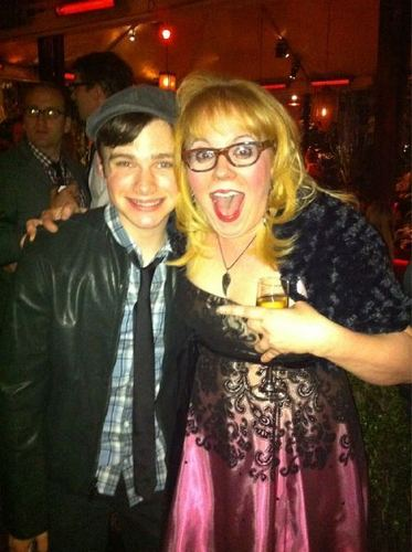 KV and Chris Colfer