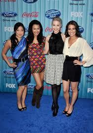 Lea, Quinn,Jenna and Naya in the red carpet