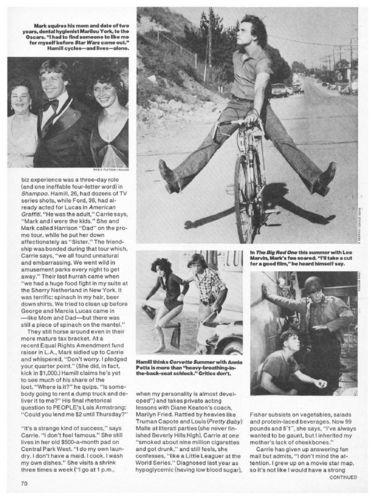 Mark Hamill artikel in people 77-78