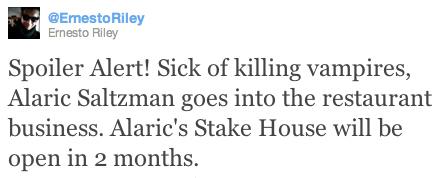 Matt Davis Twitter ; Alarics STAKE House?