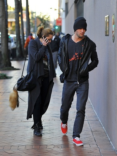 Miley Cyrus & Josh Bowman head back to their hotel in New Orleans, January 2011
