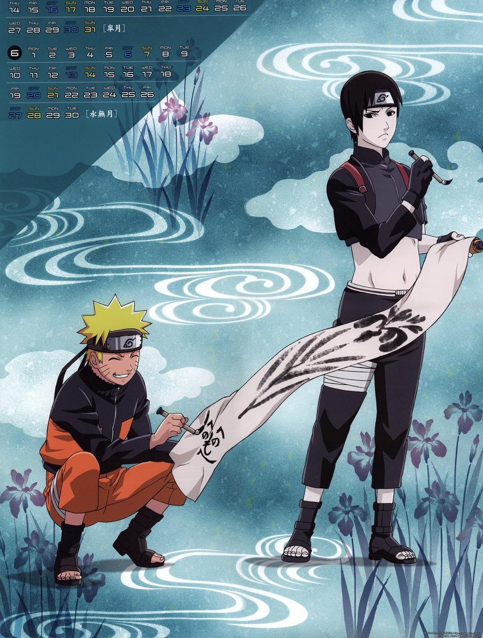 Anime Guys Naruto And Sai