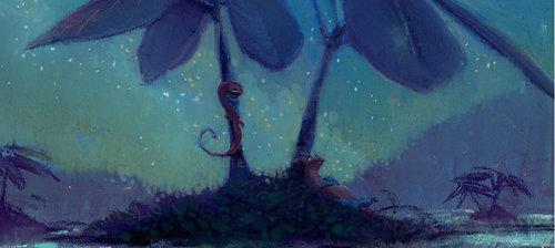 Pixar fond d'écran probably containing a pacific sardine called Newt Concept Art