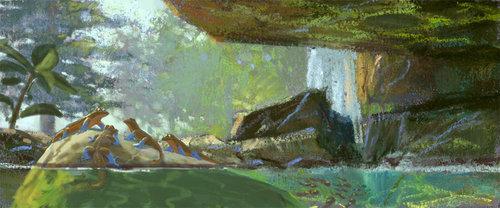 Pixar fond d'écran entitled Newt Concept Art