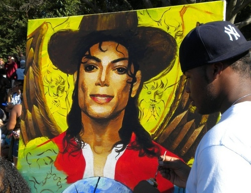 Painting of MJ