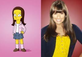 Rachel in the simpsons!