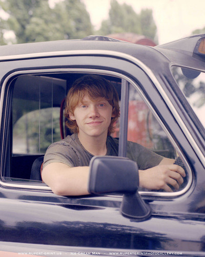 Rupert Grint wallpaper probably with an automobile called Rupert( Driving Lessons) Photoshhots HQ