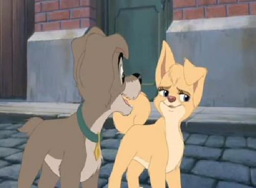 Scamp and Angel - disneys-couples Screencap