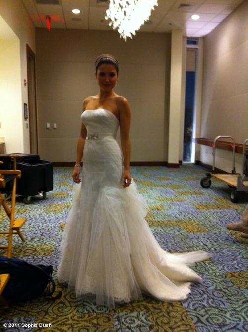 Sophia behind the scenes of OTH!