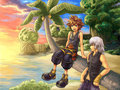 Sora, Riku, and Kairi - kingdom-hearts-2 fan art