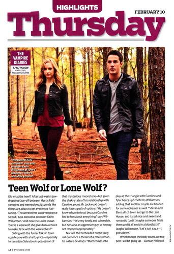 TV Guide feature - Teen بھیڑیا یا Lone Wolf?