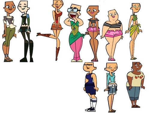 Total Drama Island karatasi la kupamba ukuta probably containing anime entitled Tdi Girls Balderized.(iÞm not good in english