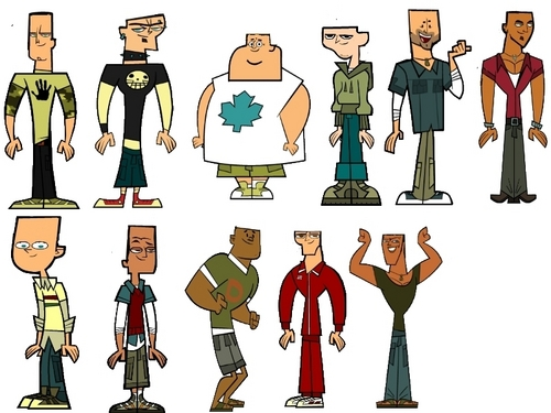 Total Drama Island wallpaper with a bell titled Tdi boys balderized.
