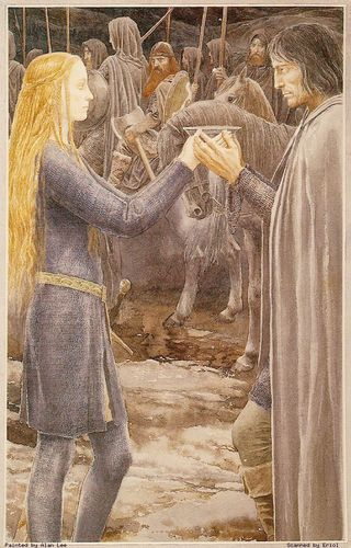 The Lady Eowyn and Aragorn